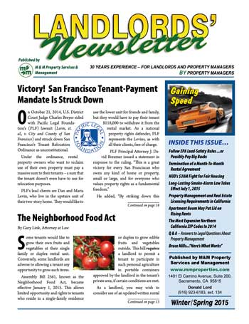 Landlords' Newsletter
